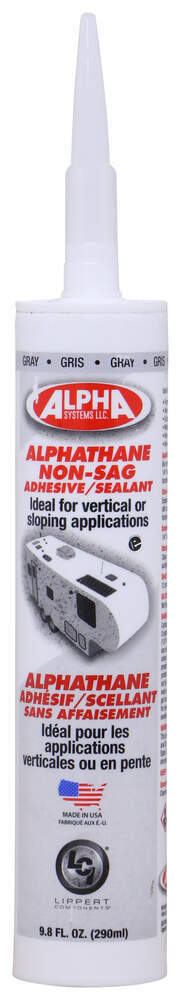 Alpha Systems AlphaThane 5160 Non-Sag Sealant for RVs - Gray - 9.8 oz - Qty 1 Gray AL83KV