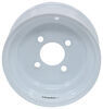 "Steel Solid Center Trailer Wheel - 9"" x 4"" Rim - 4 on 4 - White Standard Rust Resistance AM20035"