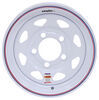 "Dexstar Steel Spoke Trailer Wheel - 12"" x 4"" Rim - 5 on 4-1/2 - White Powder Coat 12 Inch AM20132"
