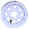 "Dexstar Steel Mini Mod Trailer Wheel - 12"" x 4"" Rim - 4 on 4 - White Powder Coat Standard Rust Resistance AM20140"