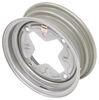 "Dexstar Vintage Steel Wheel w/ +5 mm Offset - 13"" x 4-1/2"" Rim - 4 on 9.44 - Silver 4 on 9.44 Inch AM20208"