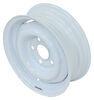 "Dexstar Conventional Steel Wheel with Offset - 13"" x 4-1/2"" Rim - 5 on 4-1/2 - White Steel Wheels - Powder Coat AM20212"