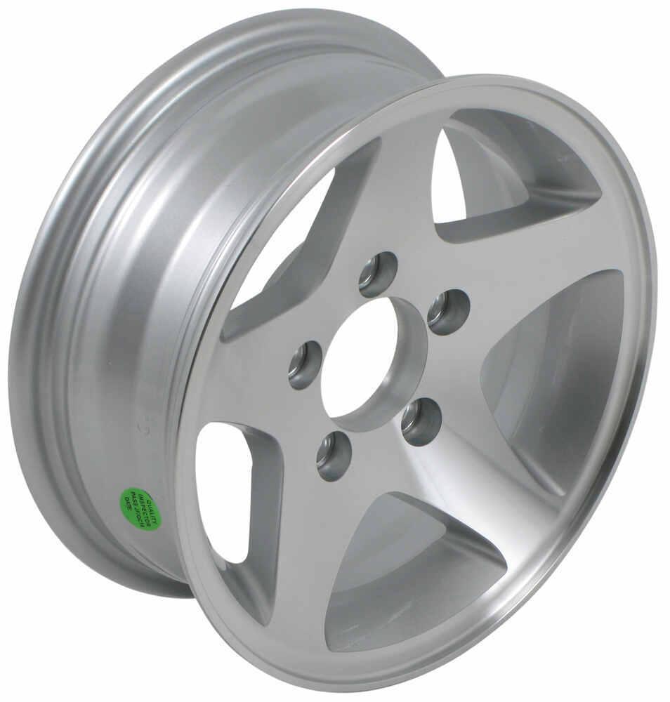 "Aluminum Hi-Spec Series 04 Star Mag Trailer Wheel - 13"" x 5"" Rim - 5 on 4-1/2 5 on 4-1/2 Inch AM20258"