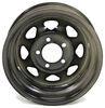 """Dexstar Steel Spoke Trailer Wheel - 14"""" x 5-1/2"""" Rim - 5 on 4-1/2 - Black Powder Coat Steel Wheels - Powder Coat AM20353"""