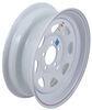 dexstar trailer tires and wheels 15 inch 5 on 4-1/2 steel spoke wheel - x rim white powder coat