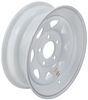 """Dexstar Steel Spoke Trailer Wheel - 15"""" x 5"""" Rim - 5 on 5 - White Powder Coat Steel Wheels - Powder Coat AM20428"""