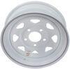 """Dexstar Steel Spoke Trailer Wheel - 15"""" x 5"""" Rim - 5 on 5 - White Powder Coat 15 Inch AM20428"""