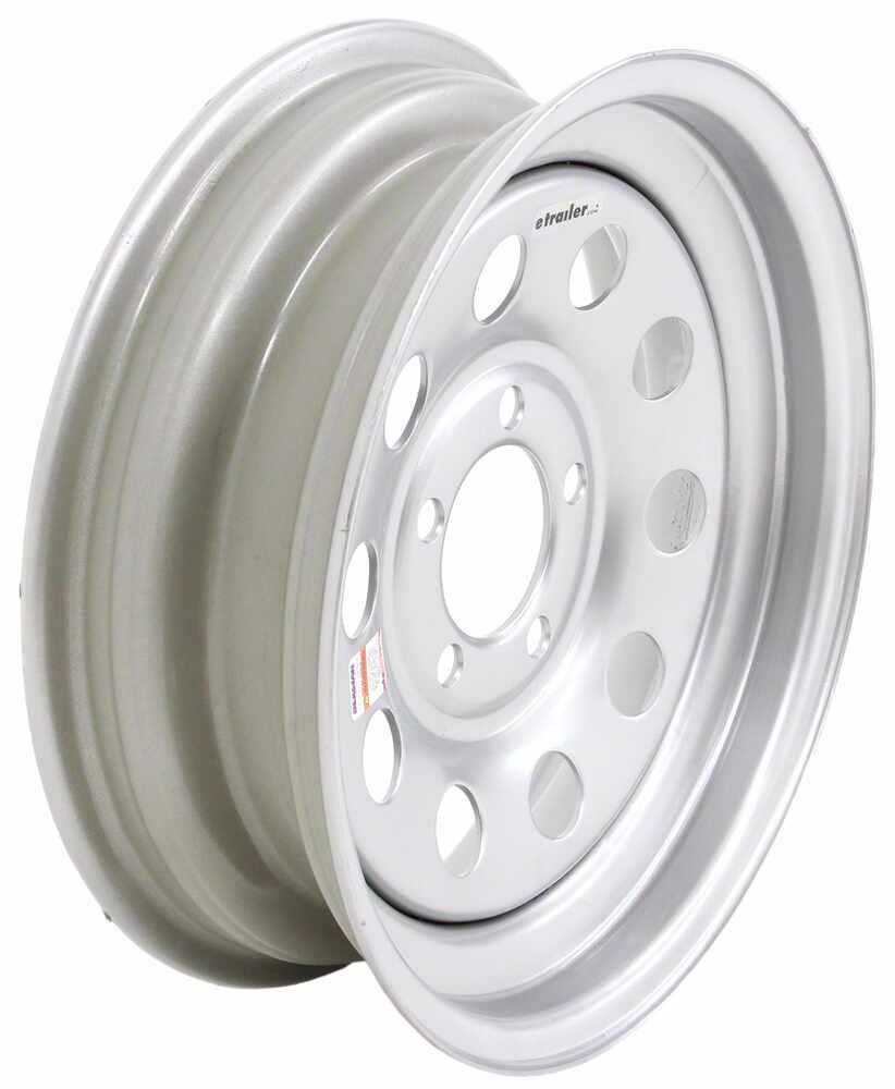 "Dexstar Steel Mini Mod Trailer Wheel - 15"" x 5"" Rim - 5 on 4-1/2 - Silver Powder Coat 5 on 4-1/2 Inch AM20436"