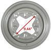 """Dexstar Vintage Steel Wheel w/ +5 mm Offset - 15"""" x 6"""" Rim - 4 on 9.44 - Silver Standard Rust Resistance AM20501"""