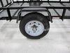 """Dexstar Steel Spoke Trailer Wheel - 15"""" x 6"""" Rim - 5 on 4-1/2 - White Powder Coat Steel Wheels - Powder Coat AM20522"""