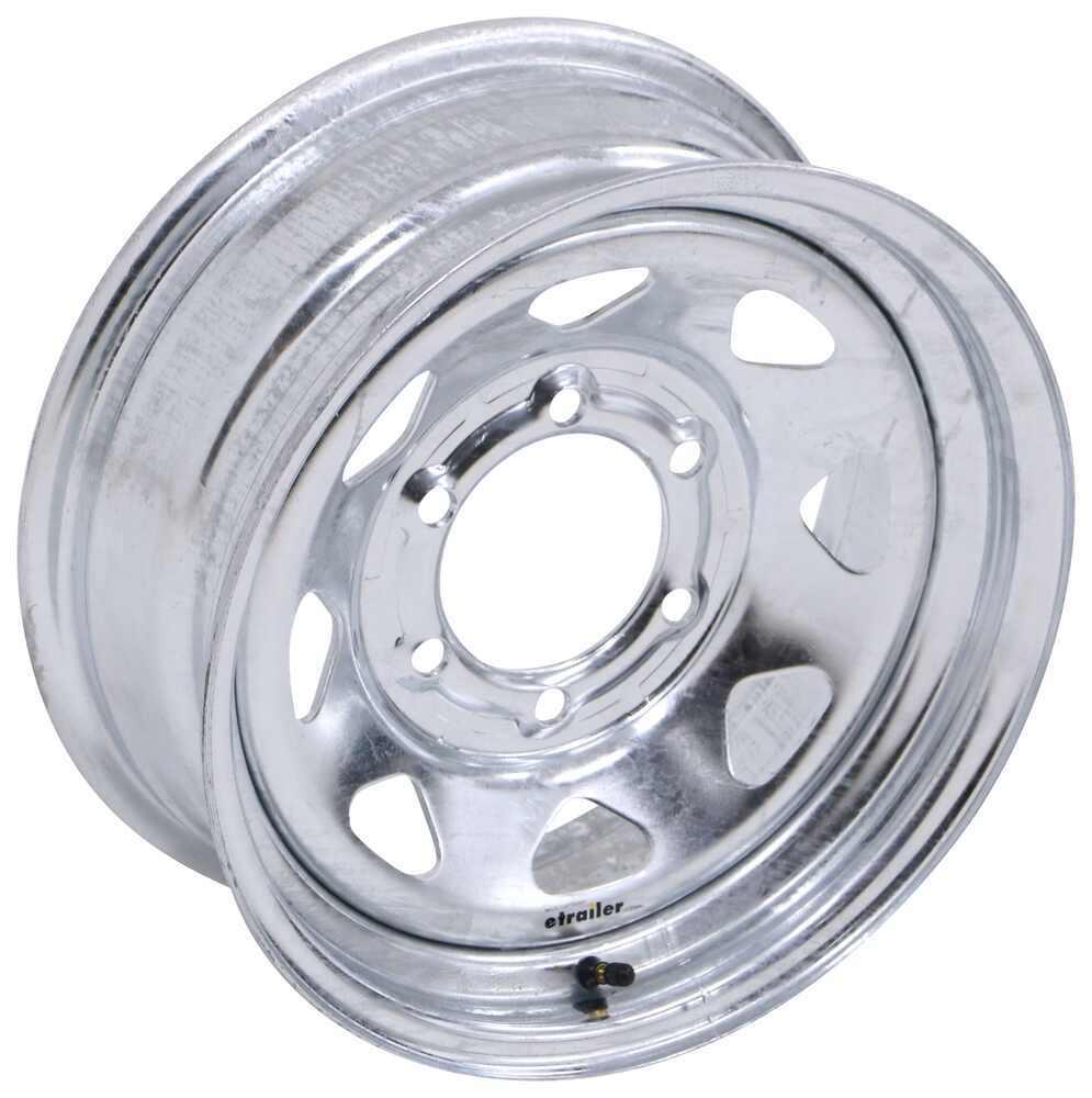 "Steel Spoke Trailer Wheel - 15"" x 6"" Rim - 6 on 5-1/2 - Galvanized Finish 15 Inch AM20534"