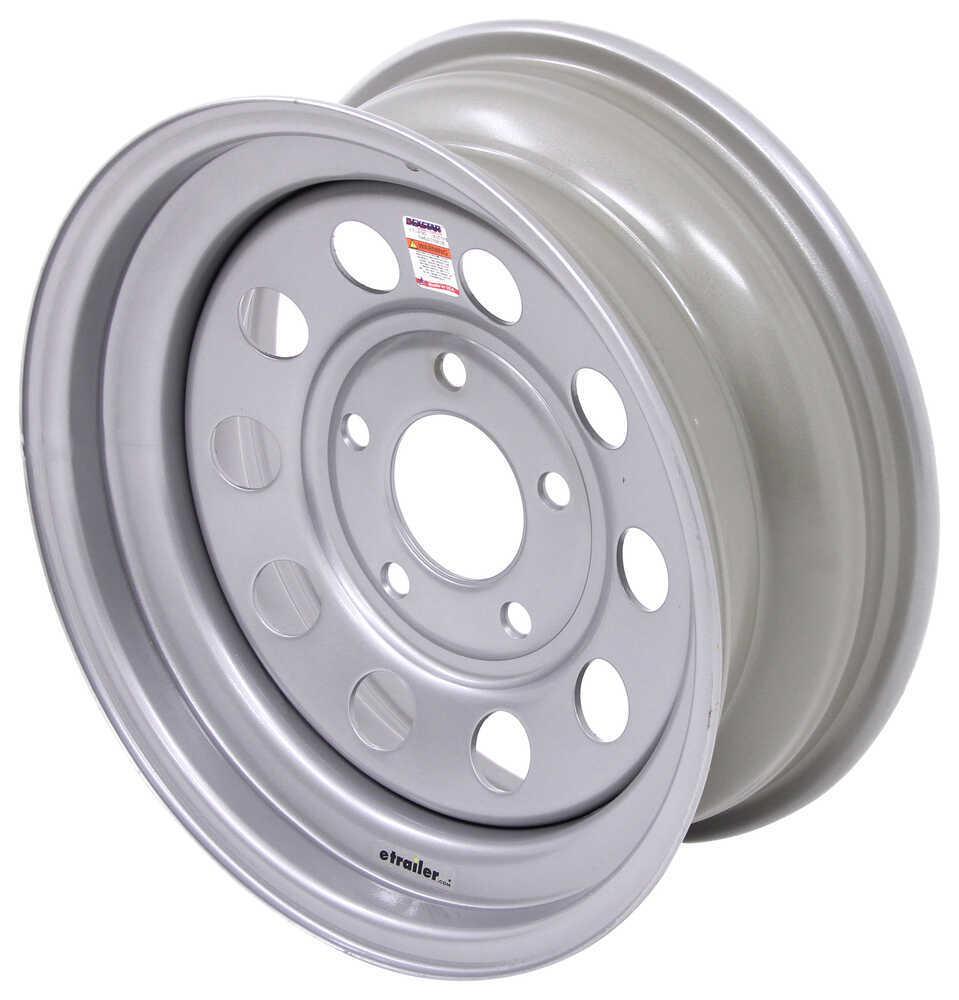 """Dexstar Steel Mini Mod Trailer Wheel - 15"""" x 6"""" Rim - 5 on 5 - Silver Powder Coat Steel Wheels - Powder Coat AM20538DX"""