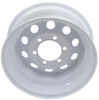 "Dexstar Steel Mini Mod Trailer Wheel - 15"" x 6"" Rim - 6 on 5-1/2 - White Powder Coat Steel Wheels - Powder Coat AM20552"