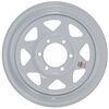 """Dexstar Steel Spoke Trailer Wheel - 16"""" x 6"""" Rim - 6 on 5-1/2 - White Powder Coat 6 on 5-1/2 Inch AM20741"""