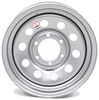 dexstar trailer tires and wheels wheel only 6 on 5-1/2 inch steel mini mod - 16 x rim silver powder coat