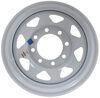 dexstar trailer tires and wheels wheel only 16 inch steel spoke - x 6 rim 8 on 6-1/2 white powder coat