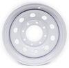 dexstar trailer tires and wheels 16 inch 8 on 6-1/2 x 6 steel mini mod wheel w/ +.5 offset - white