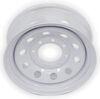 dexstar trailer tires and wheels wheel only 16 inch x 6 steel mini mod w/ +.5 offset - 8 on 6-1/2 white