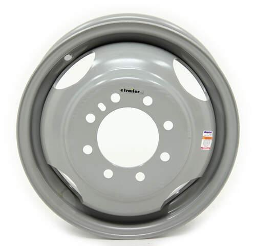 16 x 6-6 Lug Silver Mod Solid Steel Trailer Wheel 6 x 5.5 Single