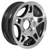 hwt trailer tires and wheels 12 inch 4 on aluminum series s5 wheel - x rim black