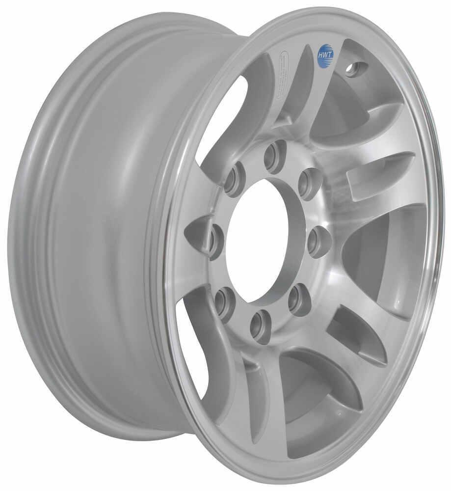 """Aluminum Split Spoke Trailer Wheel - 16"""" x 6-1/2"""" Rim - 8 on 6-1/2 Aluminum Wheels,Boat Trailer Wheels AM22659HWT"""