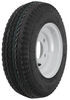 kenda trailer tires and wheels 8 inch 5 on 4-1/2 4.80/4.00-8 bias tire with white wheel - load range c