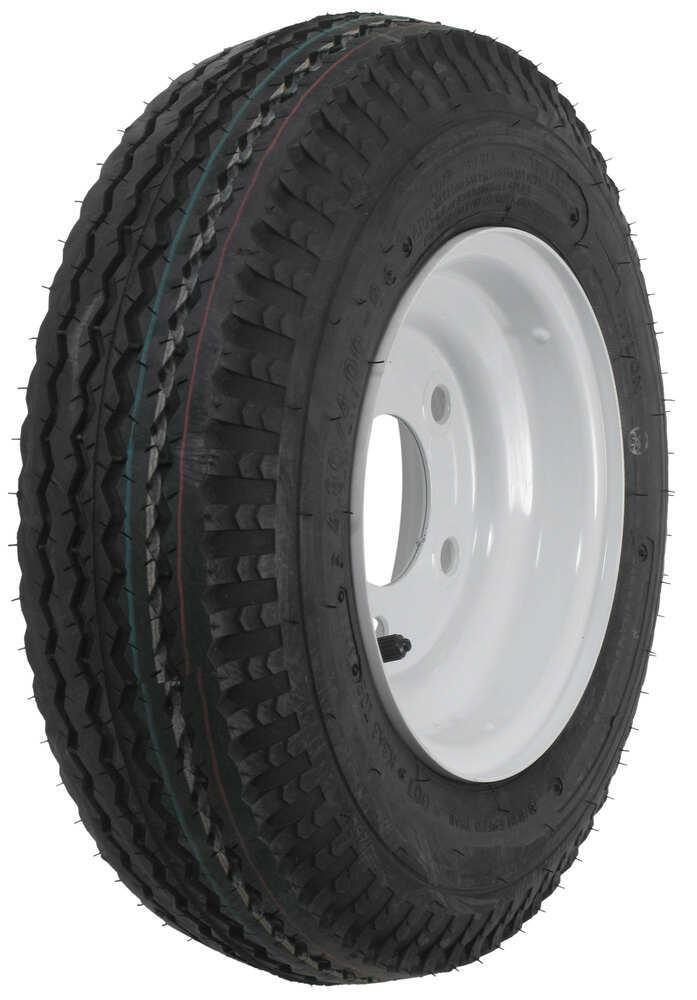 "Kenda 4.80/4.00-8 Bias Trailer Tire with 8"" White Wheel - 5 on 4-1/2 - Load Range C Standard Rust Resistance AM30060"
