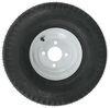 "Kenda 5.70-8 Bias Trailer Tire with 8"" White Wheel - 4 on 4 - Load Range B 5.70-8 AM30080"