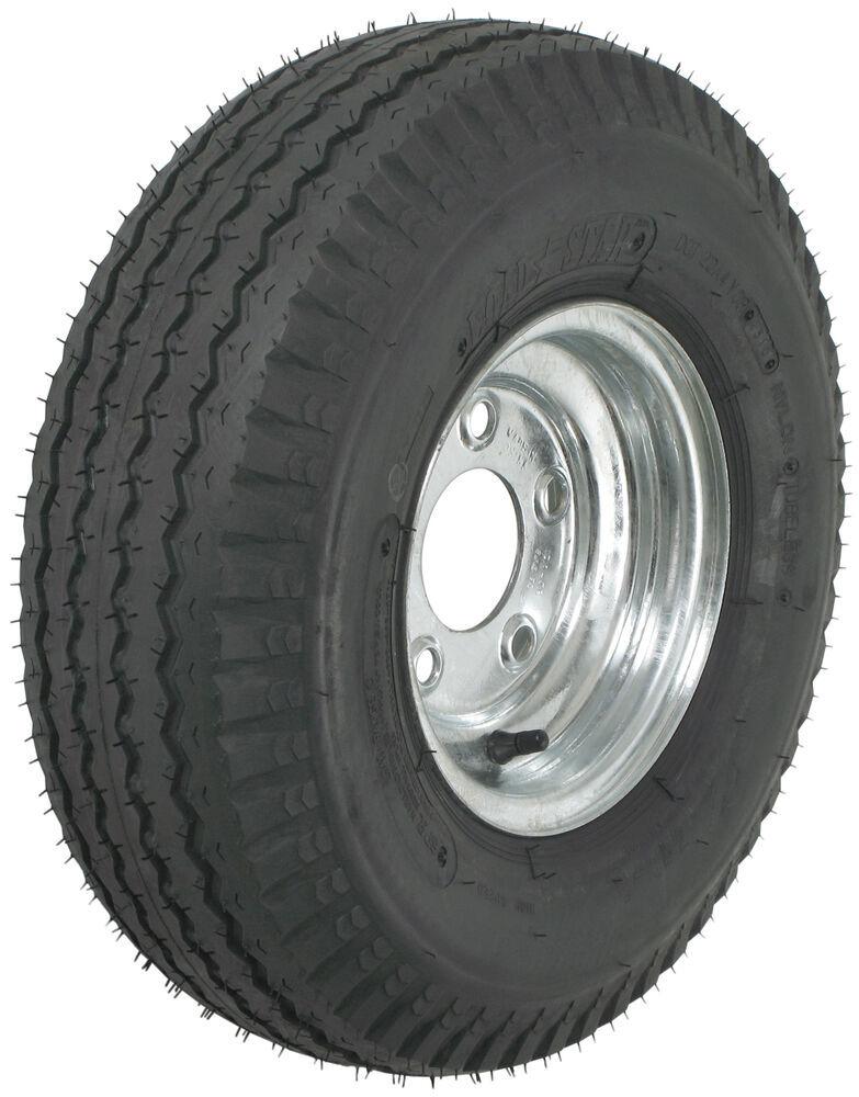 "Loadstar 5.70-8 Bias Trailer Tire with 8"" Galvanized Wheel - 5 on 4-1/2 - Load Range C 5.70-8 AM30150"