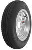 "Kenda 4.80-12 Bias Trailer Tire with 12"" Galvanized Wheel - 4 on 4 - Load Range B 4.80-12 AM30550"
