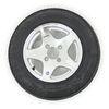 "Kenda 4.80-12 Bias Trailer Tire with 12"" Aluminum Wheel - 4 on 4 - Load Range C Aluminum Wheels AM30677"