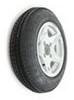 "Kenda 4.80-12 Bias Trailer Tire with 12"" Aluminum Wheel - 4 on 4 - Load Range C Bias Ply Tire AM30677"