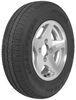 "Kenda KR25 ST145R12 Radial Trailer Tire with 12"" Aluminum Wheel - 4 on 4 - Load Range D Radial Tire AM31208"
