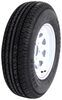 "Karrier ST205/75R14 Radial Trailer Tire w/ 14"" White Wheel - 5 on 4-1/2 - Load Range D Standard Rust Resistance AM32161"