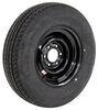 "Karrier ST225/75R15 Radial Trailer Tire with 15"" Black Steel Wheel - 6 on 5-1/2 - Load Range D Radial Tire AM32575"