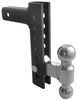 andersen trailer hitch ball mount drop - 8 inch rise class iv 10000 lbs gtw ez adjustable steel kit w/ 2 balls or 10 000