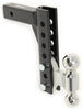 """EZ Heavy Duty Adjustable Hitch with Combo Ball - 8"""" Drop/Rise - 14,000 lbs Drop - 8 Inch,Rise - 8 Inch AM3298"""