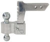 "Rapid Hitch Adjustable, Aluminum Ball Mount Kit w/ 2 Zinc Balls - 5-1/2"" Drop Aluminum Shank - Silver AM3410"