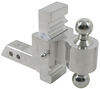 "Rapid Hitch Adjustable Aluminum Ball Mount Kit - 2 Zinc Balls - 5-1/2"" Drop, 6-1/2"" Rise Class IV,8000 lbs GTW AM3411"
