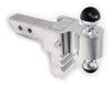 """Rapid Hitch Adjustable, Aluminum Ball Mount Kit w/ 2 Greaseless Balls - 4"""" Drop or Rise Fits 2 Inch Hitch AM3461"""