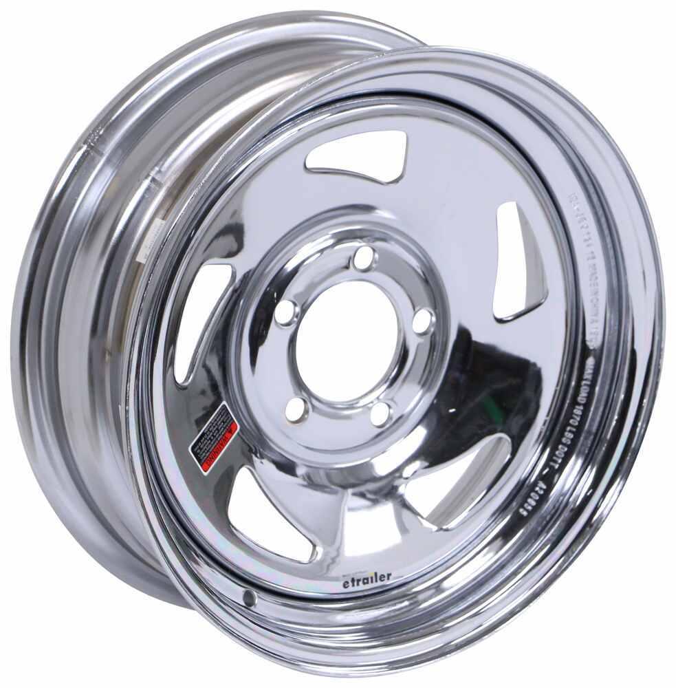 "Steel Directional Trailer Wheel - 15"" x 5"" Rim - 5 on 4-1/2 - Chrome Finish 5 on 4-1/2 Inch AM34FR"