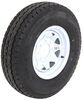 "Karrier ST235/85R16 Radial Trailer Tire w/ 16"" White Wheel - 8 on 6-1/2 - Load Range F Standard Rust Resistance AM35099"