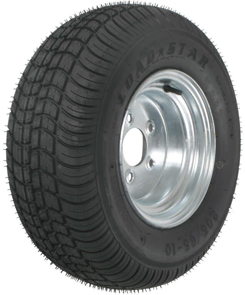 "Kenda 205/65-10 Bias Trailer Tire with 10"" Galvanized Wheel - 5 on 4-1/2 - Load Range B Steel Wheels - Galvanized,Boat Trailer Wheels AM3H360"