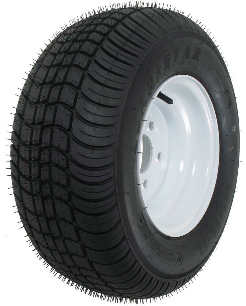 "Kenda 205/65-10 Bias Trailer Tire with 10"" White Wheel - 5 on 4-1/2 - Load Range C 5 on 4-1/2 Inch AM3H390"