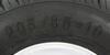 "Kenda 205/65-10 Bias Trailer Tire with 10"" White Wheel - 4 on 4 - Load Range D Steel Wheels - Powder Coat AM3H410"