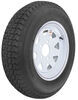 kenda trailer tires and wheels 13 inch 5 on 4-1/2 loadstar st175/80d13 bias tire with white wheel - load range b