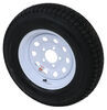"Loadstar ST185/80D13 Bias Trailer Tire w/13"" White Modular Wheel - 5 on 4-1/2 - Load Range D 185/80-13 AM3S333"