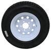 """Loadstar ST185/80D13 Bias Trailer Tire w/13"""" White Modular Wheel - 5 on 4-1/2 - Load Range D Steel Wheels - Powder Coat AM3S333"""