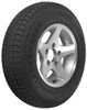 "Loadstar ST185/80D13 Bias Trailer Tire with 13"" Aluminum Wheel - 5 on 4-1/2 - Load Range D Load Range D AM3S339"