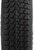 "Loadstar ST205/75D14 Bias Trailer Tire with 14"" White Wheel - 5 on 4-1/2 - Load Range C Bias Ply Tire AM3S440"